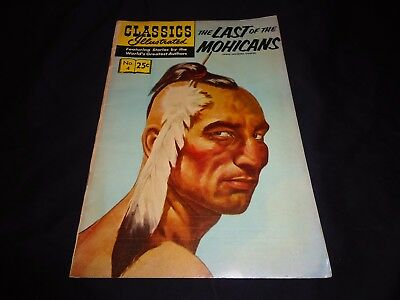 Classics Illustrated #4 - The Last Of The Mohicans - Vintage 1969 Edition!