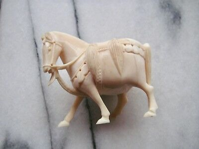 Old Chinese Carved Horse Figurine - Handcarved Bone