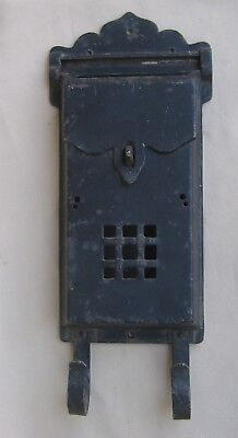 Antique Cast Iron Arts & Crafts Mail Box - House Wall Mount w Mail Slot