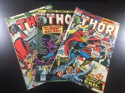 MARVEL Comics MIGHTY THOR #228 230 231 LOT of 3 Key BRONZE AGE Ships FREE!