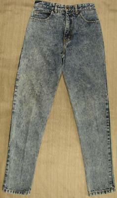 80's Vintage Guess Acid Wash peg leg denim jeans high waist 26x30 skinny
