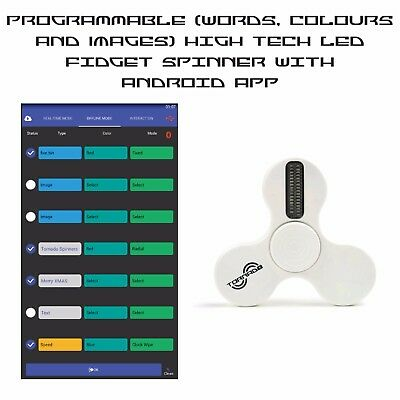Programmable LED Fidget Spinner with APP for Android Phones - White