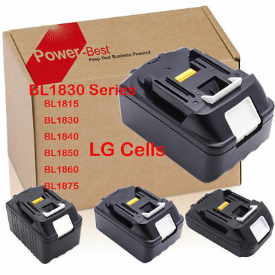 LG Cells - Replace Makita Battery BL1830 BL1840 BL1850 BL1860 ,DC18RC Neu