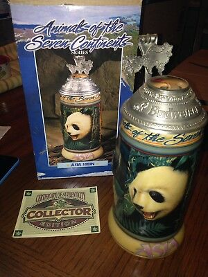Anheuser Busch Budweiser Animals Of The Seven Continents  Asia Stein Mug In Box!