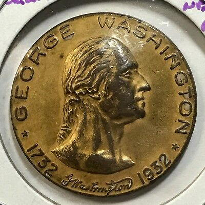 1932 George Washington Fort Necessity  Large Token High Grade  Beauty