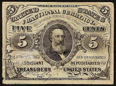 1864-1869 PAPER MONEY 5 CENT FRACTIONAL CURRENCY SPENCER CLARK NOTE Fr 1238