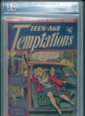 "TEEN-AGE TEMPTATIONS 1 PGX 3.0 (Classic ""Reform School Girl"" ! M. Baker c/a !)"