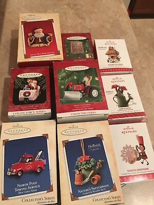 Lot of 9 Hallmark Keepsake Ornaments