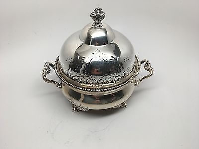 Homan Mfg Co - Usa -Quadruple Plate Special Metal Dome Lid Butter/cheese Keeper