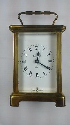 Vintage Bayard French Carriage Clock. 8 Day.