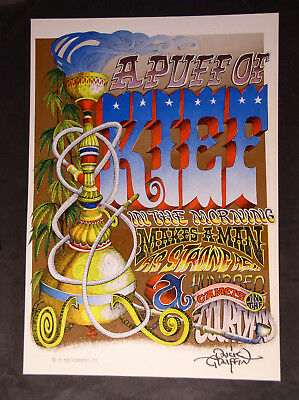 "RICK GRIFFIN POSTER ""A Puff OF Kief"" 1967 NM 1st Print SIGNED Berkeley Bonaparte"