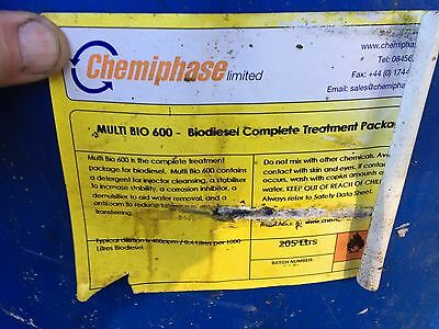 45 gallon drum of Chemiphase MultiBio Fuel Detergent, Stabilizer, Antifoam