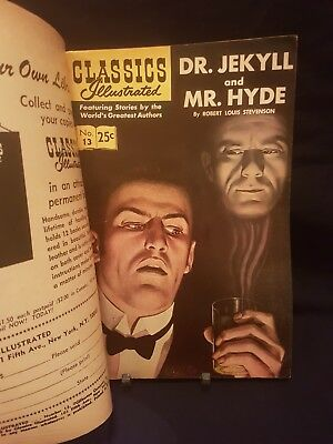 *rare Double Cover* Classics Illustrated #13 - Dr. Jekyll And Mr. Hyde - 1968