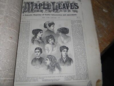 MAPLE LEAVES Domestic Magazine January 1870 Roorbach publisher NYC Victorian