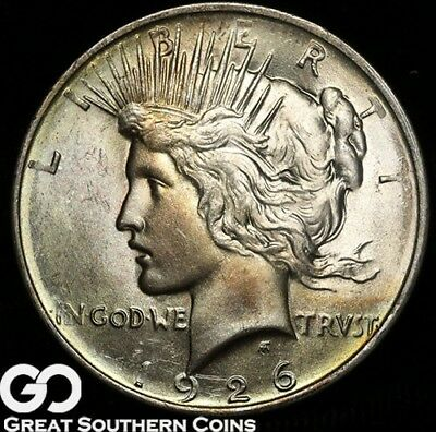 1926-D Peace Dollar, Tough This Nice, Gorgeous Solid Gem BU++!