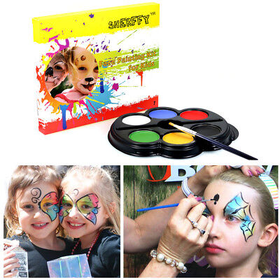 Face Body Paint Non-toxic 6 Colors Art Make Up Painting Kit Set Halloween Party