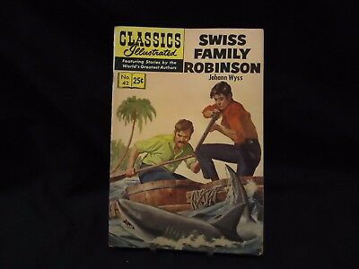 Classics Illustrated #42 - Swiss Family Robinson - Vintage Spring 1969 Issue
