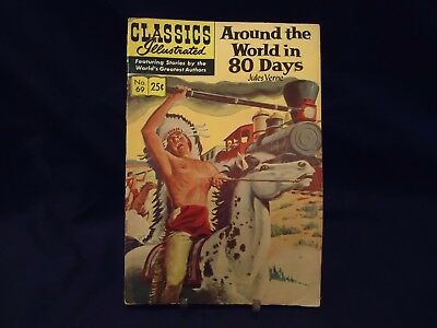 Classics Illustrated #69 - Around The World In 80 Days - Vintage Spring 1969 Iss