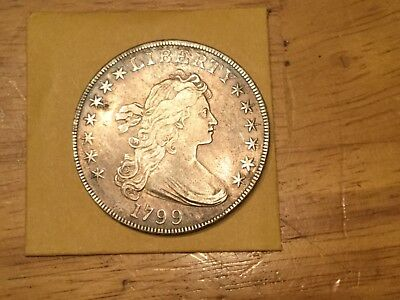 1799 Draped Bust Silver  dollar album tone  high grade. Xf