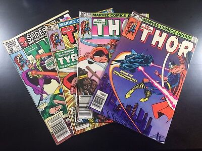 MARVEL Comics MIGHTY THOR #309 311 312 314 LOT of 4 BRONZE AGE KEY Ships FREE!