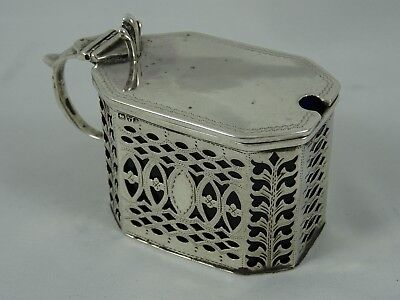 CHESTER - solid silver MUSDTARD POT, 1901