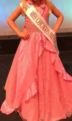 Beautiful winning Pink Sugar girls Pageant Gown Size 10 perfect for Preteen!
