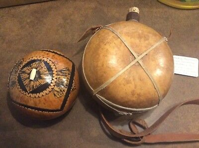 Native American Gord Canteen and Gord Container Decorative