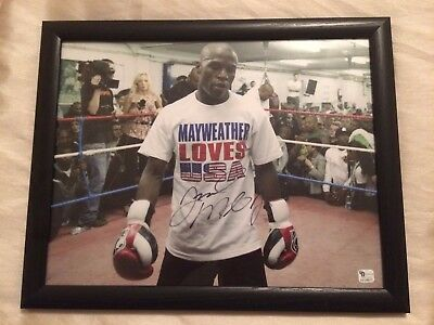 Very Rare Signed FRAMED Floyd Mayweather Authenticated Conor Mcgregor Pacquiao