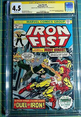 1975 (1st Series) Iron Fist #1 CGC 4.5 SS 1516607015 Stan Lee signed
