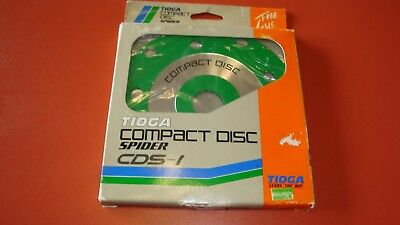 Tioga compact disc spider CDS-1 old school bmx vintage 80's NOS green