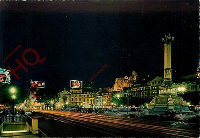 Picture Postcard:;Lisbon, Lisboa, Rossio, By Night