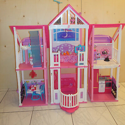 mattel barbie 3 etagen stadthaus haus ovp eur 50 00 picclick de. Black Bedroom Furniture Sets. Home Design Ideas