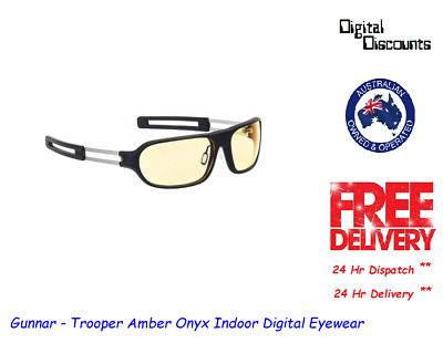 Gunnar - Trooper Amber Onyx Indoor Digital Eyewear