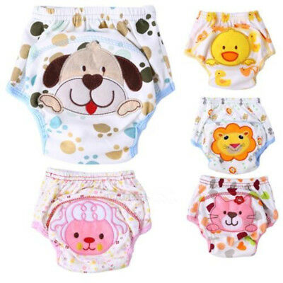 1x Soft Newborn Baby Toddler Diaper Cover Cloth Toilet Training Pants
