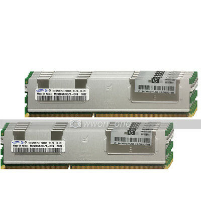 Samsung 32GB 8X4GB 2Rx4 PC3-10600R DDR3-1333MHz 240Pin ECC Reg Server Memory RAM