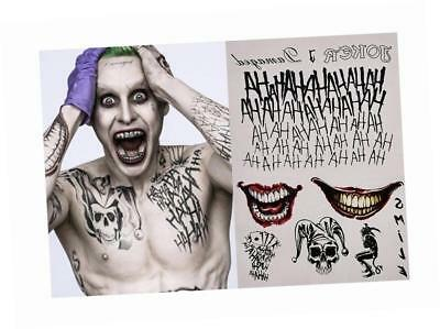 L&L® Halloween Cosplay Joker Temporary Tattoos Stickers Set UK (Type 1)