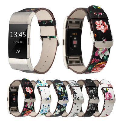 Kidston Floral PU Leather Strap Sport Band Lugs for Fitbit Charge 2 Heart Rate