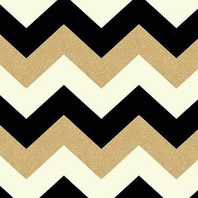 Glitterati White Black Gold Glitter Chevron Wallpaper Rolls - Arthouse 892300