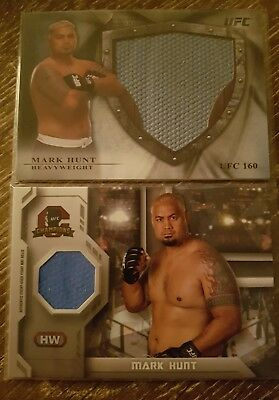 Topps UFC Champions Bloodlines Mark Hunt Relic lot of 2