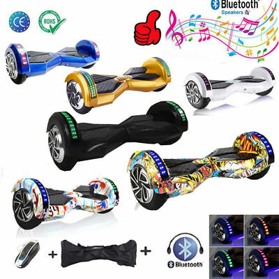 "8,0"" Hoverboard Self Balance Scooter Balancing Samsung-Akku Bluetooth LED Tasche"