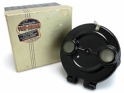 Sawyers View Master 3D Viewer Model B 1944 1948 Stereobetrachter + OVP bo099