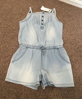 Girls George Denim Playsuit All In One Shorts Age 7-8 Years BNWT