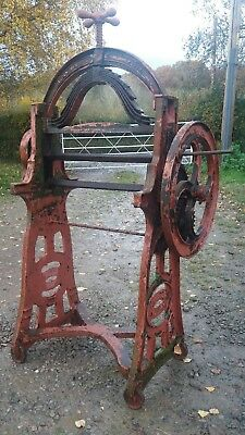 vintage Arch top washing mangle with cast iron base sides top Belben Yeovil