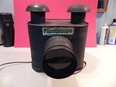 Antique MIRRORSCOPE  Projector Viewer -- The Buckeye Stereopticon Co, Cleveland