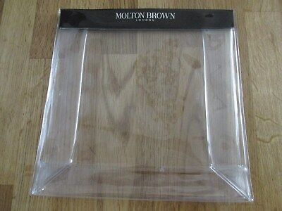 Molton Brown clear plastic gift bag. sturdy with poppers