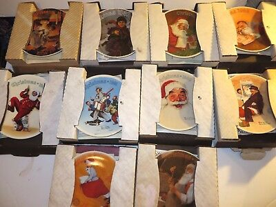 Lot of 10 Norman Rockwell Christmas Knowles Collector Plates