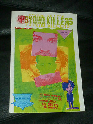 PSYCHO KILLER COMIC MANSON BOOK CHARLIE CHARLES FAMILY FIRST EDITION comics
