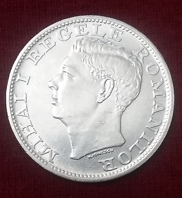 $AUCTION$ 1944 Silver Coin Romania 500 Lei Dollar KM#65