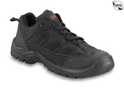 WORKTOUGH Safety Trainers - Black - UK 11 - 72SM11