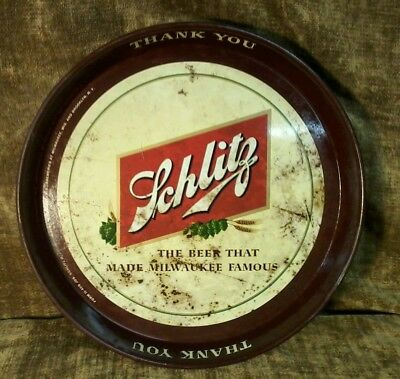Vintage Schlitz Beer Bar tray